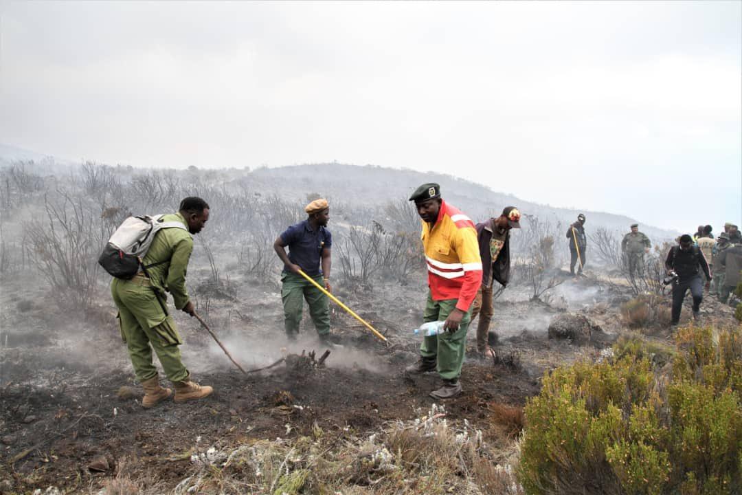 De nombreux volontaires déployés pour maitriser le feu