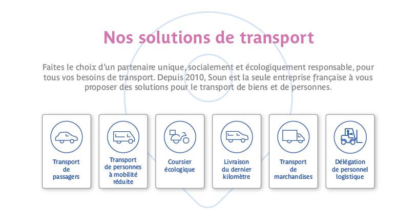Nos solutions de transport