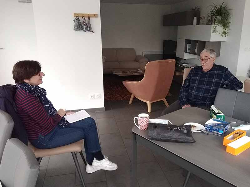 Pascale Kremer journaliste au Monde avec les béguin(e)s de Tours