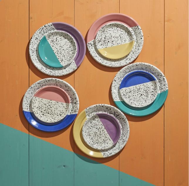 assiette-email-recyclé-vaisselle-recyclée-kapka