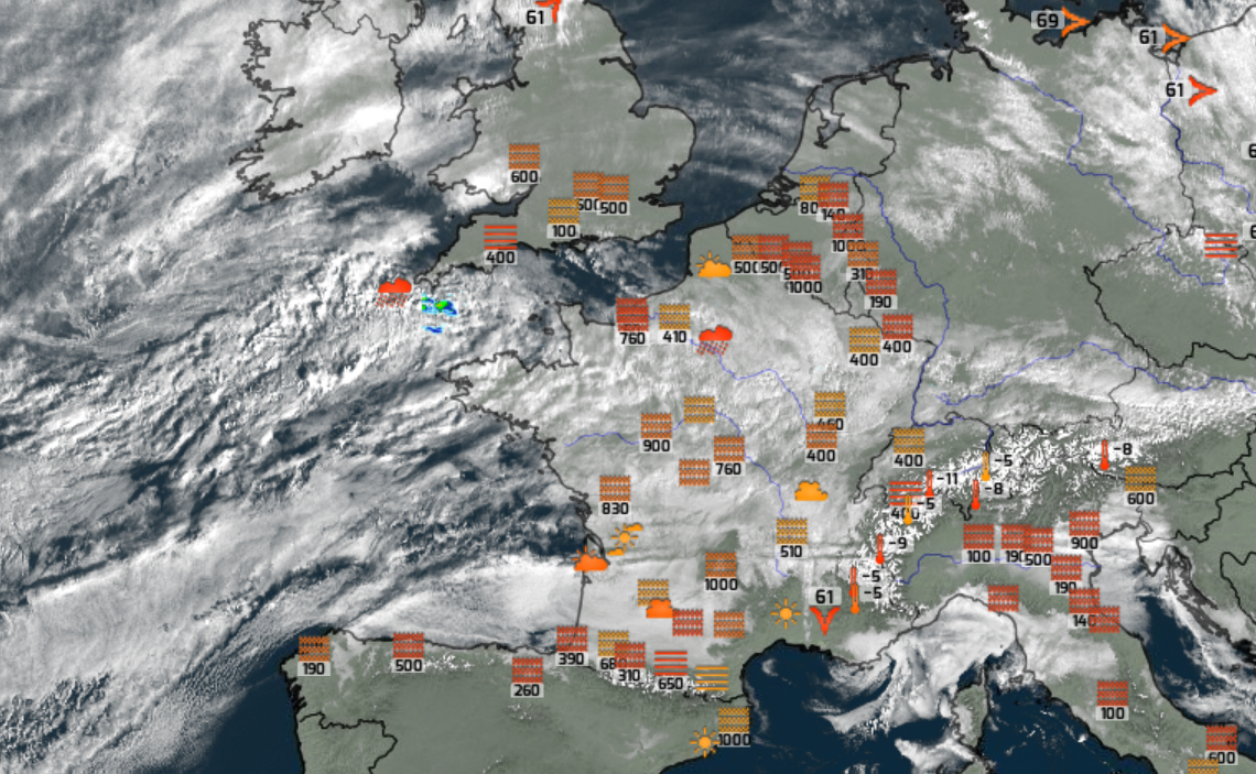 carte France méteo