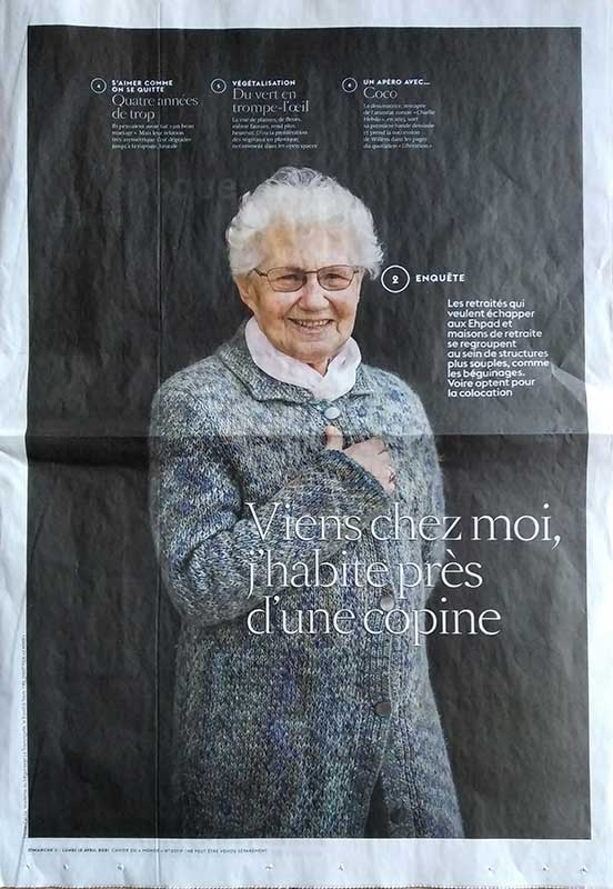 Marie-Cécile, résidente au béguinage La Tourangelle à Tours